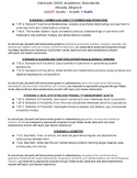 Colorado 2020 Academic Standards  iReady Aligned SMART Goa