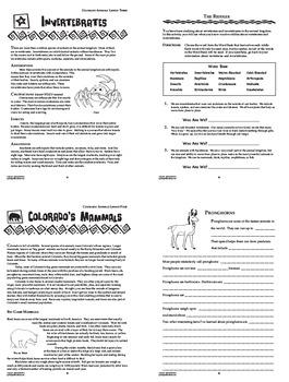 Colorado Animals Bundle of 8 COMPLETE Lessons