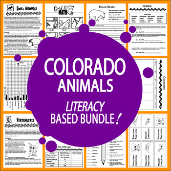 Colorado Animals Unit~8 COMPLETE Lessons