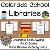 Colorado Children's Book Award 2019 - 2020 Book Review Activity Pack