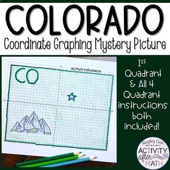 Colorado Coordinate Graphing Picture 1st Quadrant & ALL 4 Quadrants