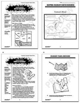 Colorado Geography Bundle of EIGHT Literacy-Based Lessons
