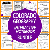 Colorado Geography–8 Lessons, 11 Mapping Activities, Colorado Travel Brochure