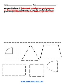 Grade 1  - Colorado - Geometric Shapes - Common Core