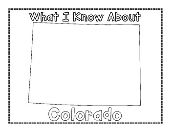 Colorado Graphic Organizers (Perfect for KWL charts and geography!)