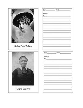 Colorado Historical Figures Baseball Card Kit
