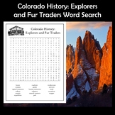 Colorado History Explorers and Fur Traders Word Search