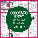 Colorado History–Interactive Notebook Colorado State Study Unit + AUDIO!