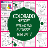Colorado History State Study Interactive Notebook Unit + AUDIO
