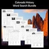 Colorado History Word Search Bundle