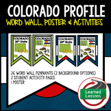 Colorado History Word Wall, State Profile, Activity Pages