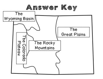 Colorado Landform Regions: A cut and paste activity