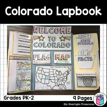 Colorado Lapbook for Early Learners - A State Study