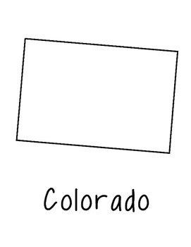 Colorado Map Coloring Page Craft - Lots of Room for Note-Taking & Creativity