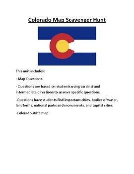Colorado Map Scavenger Hunt