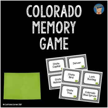 Colorado Memory Game