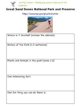 Colorado National Parks Webquest