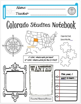 Colorado Notebook Cover