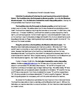 Colorado Persuasive Essay