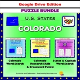 Colorado Puzzle BUNDLE - Word Search & Crossword Activities- U.S States - Google