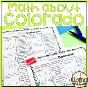 Math about Colorado State Symbols through Addition Practice