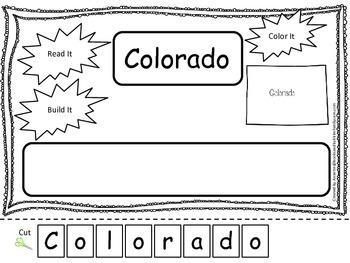 Colorado Read it, Build it, Color it Learn the States pres