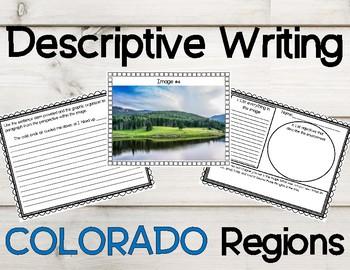 Colorado Regions Descriptive Writing Activity