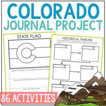COLORADO State History Guided Research Project, Notebook Journal {EDITABLE}