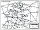 Colorado Road Map/Travel Time Map/City Mileage Chart