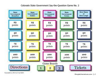 SL Games: Colorado State Government
