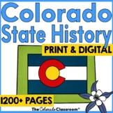 Colorado History   Colorado Geography   Paper and DIGITAL Bundle