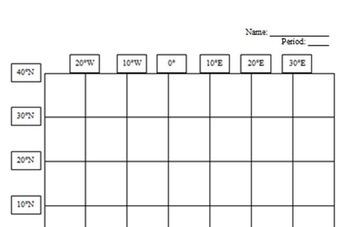 Colorado State Latitude and Longitude Coordinates Puzzle - 5 Coordinates - FREE!