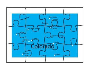 Colorado State Map Activity