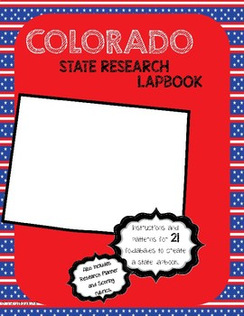 Colorado State Research Lapbook Interactive Project