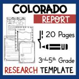 Colorado State Research Report Project Template + bonus timeline Craftivity CO