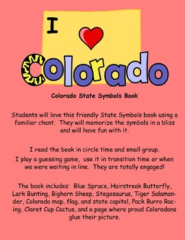 Colorado State Symbols Teacher and Student Book