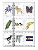 Colorado State Symbols themed Memory Match Game. Preschool Game