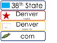 Colorado State Word Wall Bulletin Board Set. Geography Cur