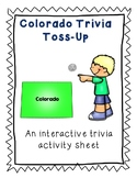 Colorado Trivia Toss-Up Activity - State Geography