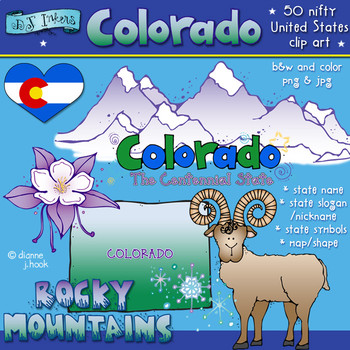 Colorado USA Clip Art Download