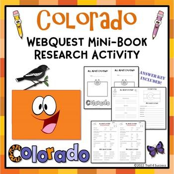 Colorado Webquest Common Core Research Activity Mini Book