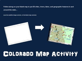Colorado (state) Map Activity- fun, engaging, follow-along 20-slide PPT