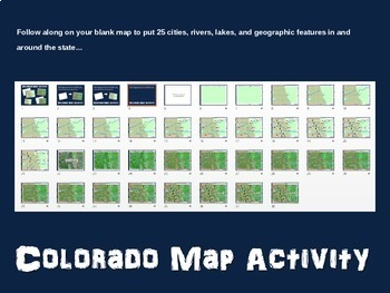 Colorado (state) Map Activity- fun, engaging, follow-along 20-slide PPT