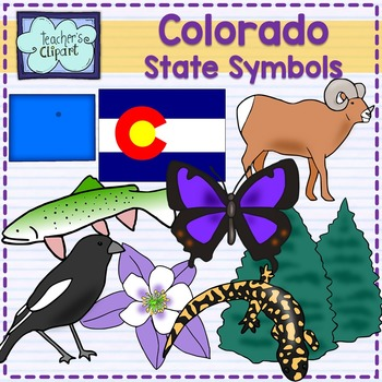 Colorado State Symbols Clipart