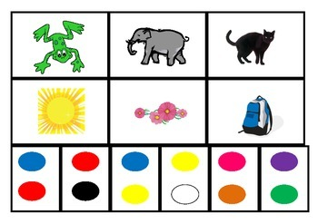 Color/colour flashcards