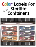 Color Labels for Sterilite Drawers