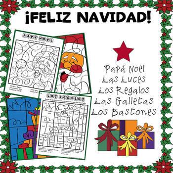 Colorea Según el Número en Navidad/Color-by-Numbers in Christmas