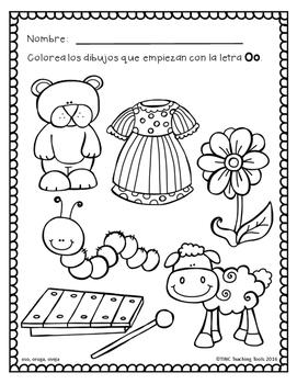 Dibujos Para Pintar Pre Kinder Dibujos Para Pintar Vocales Dibujos
