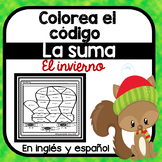 Colorea dibujos del invierno por el codigo: la suma 0 - 10