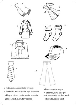 Colorea la ropa